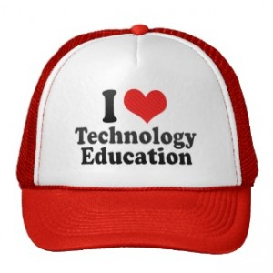 i love tech ed hat