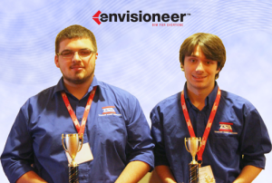 Justin Simerly & John Cole of Hampton H.S., received high honors at the TN State TSA Competition using Envisioneer!