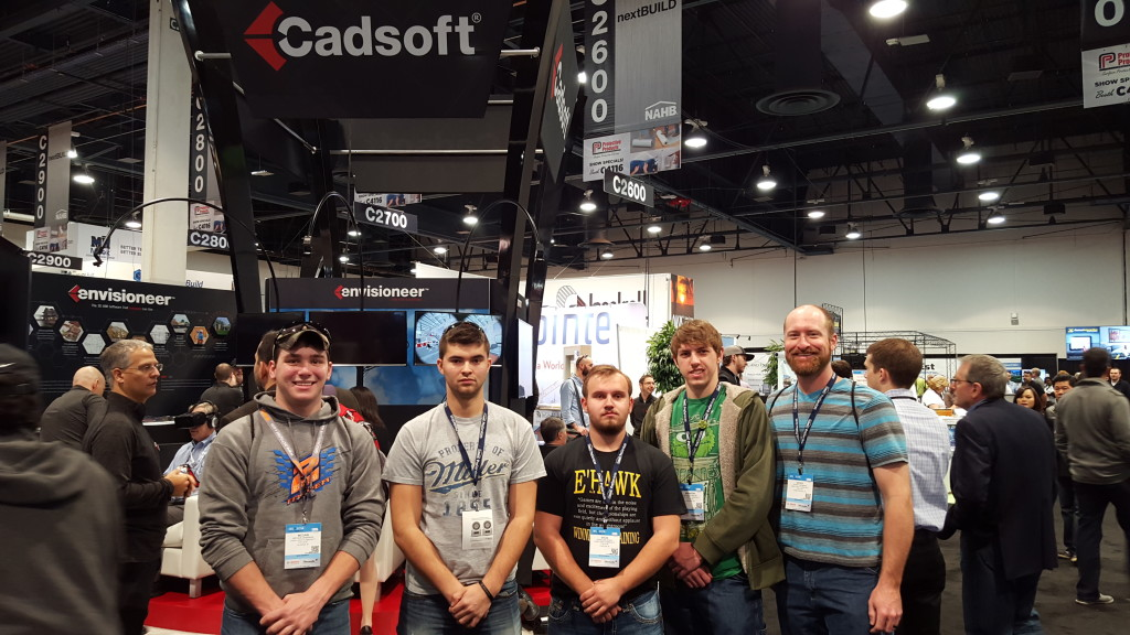 ILCC Students (L to R): McCain Jennings Cole Miller Douglas Vesey Brandon Wiese and Instructor Corey Menning.